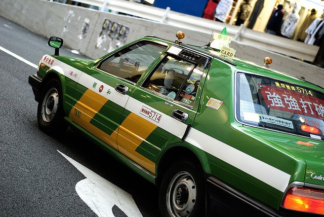 Taxi in Tokyo. Photo courtesy of Waito (CC license).
